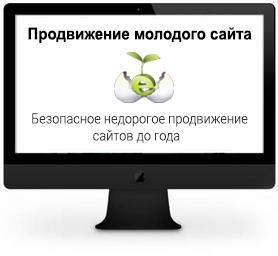 Продвижение молодого сайта